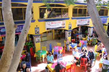 Supreme Dental Clinic in Mexico has great food and entertainment right outside.